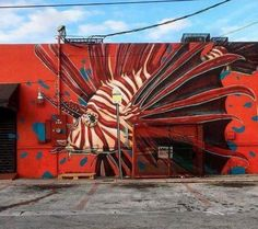 Mural by Ivan Roque in Miami, USA
