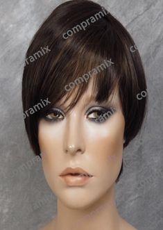 Peluca Larga Color Castaño Dorada y Destellos Color Castaño, Short Hair Styles, Templates, El Dorado, Hair Wigs, Haircuts, Colors, Bob Styles, Short Length Haircuts