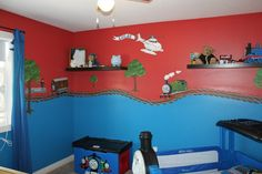Thomas room...Very cute!