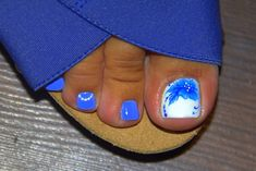 Фотография Pedicure Designs, Pedicure Nail Art, Toe Nail Designs, Nail Polish Designs, Pink Nail Art, Cute Nail Art, Beautiful Nail Art, Blue Nails, Pretty Toe Nails