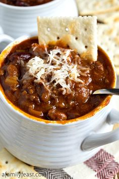 Glenn's Sweet & Spicy Slow Cooker Chili - A uniquely delicious chili that starts out sweet, then delivers a spicy kick! Addictively delicious!!