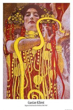 Gustav Klimt - Hygieia, Detail Aus Der Medizin, 1900-1907