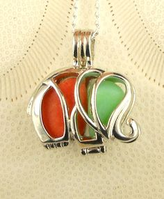 Your place to buy and sell all things handmade Sea Glass Jewelry, Glass Necklace, Locket Necklace, Unique Necklaces, Milk Glass, Sterling Silver Chains, Handcrafted Jewelry, Happy Holidays, Different Colors