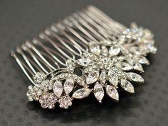 Bridal or flower girl rhinestone hair comb  by DearestBeloved, $35.50