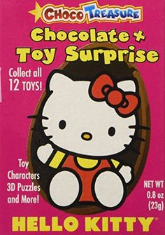 Hello Kitty Milk Chocolate Eggs with Toy Surprise!, Box 12 Count Choco Treasure