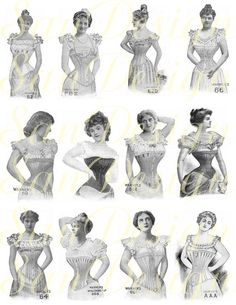 Perhaps one of my favorite undergarments of the past is corsets. They played a big role in the shaping of garments, and are beautiful as well
