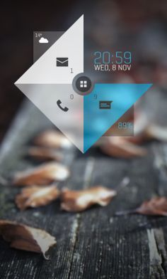 Android homescreen UI.
