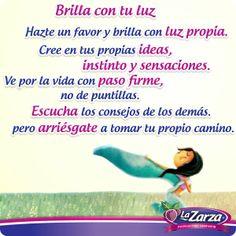 ¡Brilla con tu propia luz! #Pasteles #Quotes #Puebla #Veracruz #Morelos #sabores  #Xalapa #Tlaxcala #México #mujer