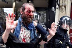Loi Travail: 13 photos qui montrent la violence de la manifestation du 14 juin