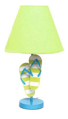 Summer Beach Metal Flip Flop Lamps Fun and Colorful (Blue Base Green Shade)) by DEI, http://www.amazon.com/dp/B0091I8FMC/ref=cm_sw_r_pi_dp_.nqErb0DDJNZA