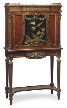 A FRENCH ORMOLU-MOUNTED MAHOGANY, ACAJOU MOUCHETE AND COROMANDEL LACQUER SECRETAIRE A ABATTANT -  ATTRIBUTED TO PAUL SORMANI, PARIS, THIRD QUARTER 19TH CENTURY.