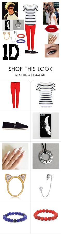 """Louis Tomlinson's Twin Sister."" by sdees ❤ liked on Polyvore featuring J Brand, Oasis, TOMS, Aamaya by priyanka, Bling Jewelry and Palm Beach Jewelry"
