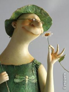 Created by Alexander Equpets, 2014. Butterfly, dragonfly lady. Art Doll./ a similar witch/ botanical witch