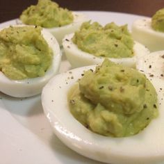 Avocado Devilied Eggs – The Foodee Project