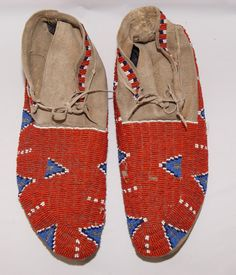 // beaded moccasins