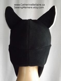 Pin Now for Later. $27.00 AVIATOR Hat - Animal fleece winter aviator hat - amine cosplay gothic fleece hat.  www.CatherineBellaire.ca SewingMemere.etsy.com