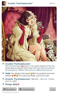Fan art about fables' characters in Instagram photos