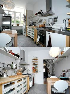 ikea kitchen... i want a rack like that for my recipe books!
