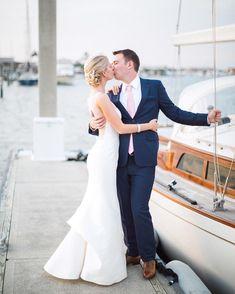 Luxurious and Nautical Wedding at Naples Yacht Club. Photo by Hunter Ryan Photo