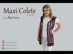 Versão canhotos : Blusa mistério do oriente em crochê (1° parte )# Elisa Crochê - YouTube