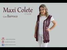 Maxi Colete em Crochê | Professora Simone