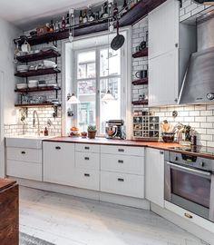 White and modern, kitchen