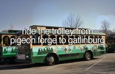 Ride The Trolley From Pigeon Forge to Gatlinburg