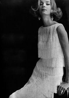 Fringed evening wear 1960's jαɢlαdy