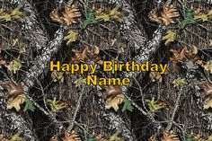 Mossy Oak Camo Edible Cake Tattoo Topper Personalized 1/4 Sheet - FREE SHIPPING. $10.00, via Etsy.