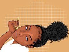 Drawings Of Black Girls, Girly Drawings, Black Girl Cartoon, Dope Cartoon Art, Black Love Art, Black Girl Art, Trill Art, Afrique Art, Black Art Pictures