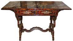 A 19th Century English Tortoiseshell Sofa Table 4497 - C. Mariani Antiques, Restoration & Custom, San Francisco, CA.