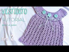 Aprende a tejer un vestido para bebé paso a paso (1 de 2) | Tutorial Liliana Milka - YouTube