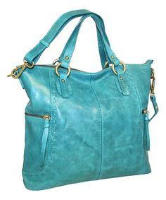 Nino Bossi Handbags Denim Ole Ole Leather Tote | zulily