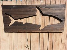Pallet Shark Wood Wall Art by Peace Love Wood