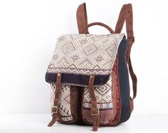 Authentic Native Tribal Rucksack Fabric Backpack by TaTonYon, $50.00