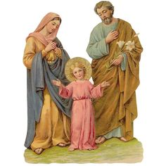 Large Holy Family Scrap ~ Germany ~ New for 2014