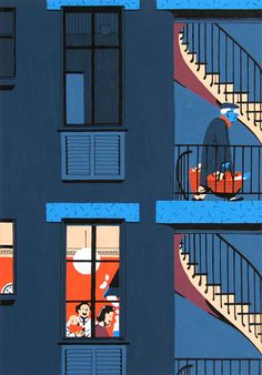 It's Nice That : Illustration: Vincent Mahe's excellent drawings of his Parisian neighbours