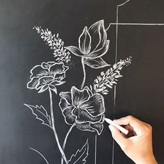 (notitle) - Drawing - HoMe Chalkboard Doodles, Blackboard Art, Chalkboard Drawings, Chalkboard Designs, Chalk Drawings, Chalkboard Ideas, Chalk Art Quotes, Black Paper Drawing, Drawing Drawing