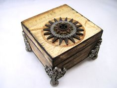 Steampunk Trinket Box with Layered Gears by EyeFullProductions, $60.00