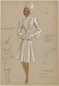 André Fashion Illustrations from NYPL's Picture Collection > 1930s Coat.