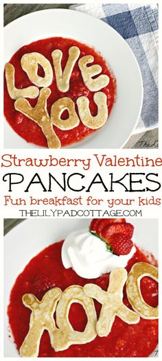 Valentine Pancakes - The Lilypad Cottage