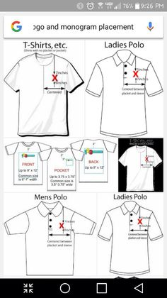 43861f3d8 Tips for design image placement when customizing apparel! Custom ...