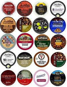 20 K Cup Variety - Dark and / or Bold Flavors Only - No Flavored Coffee - Delicious Intense Roasts >> Don't get left behind, see this great product : K Cups