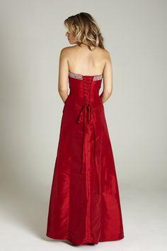 osell wholesale dropship Sweetheart Neck Pleated Beading Taffeta Sleeveless Floor Length A Line Prom Dress $94.08