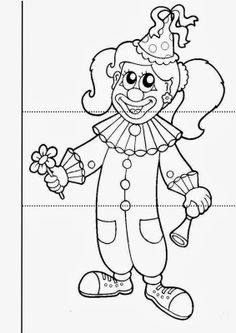 Carnival is a synonym for joy, fantasy and a lot of colorful things for children. Coloring Sheets For Kids, Coloring Pages, Carnival Crafts, School Carnival, Le Clown, Printable Paper, Business For Kids, Paper Flowers, Party Time