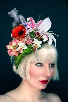 Surreal Avant Garde Fascinators by GG s Pin-up Couture 78bce496418c