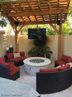 Magnificent Metropolitan Metamorphosis: DIY Arbor Kit Quick and easy, beautiful backyard makeover with a DIY timber frame arbor kit. Timber Pergola, Outdoor Pergola, Pergola Kits, Outdoor Decor, Diy Pergola, Pergola Plans, Pergola Ideas, White Pergola, Pergola Shade