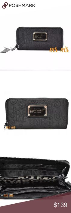 NWT Marc Jacobs Core Nylon Zip Around WALLET $168. Size Approx: 8''L x 4''H x 0.75''D.  Material: nylon.   Color: black Smoke Free & Pet Free Environment  Note: This bag was measured by hand; please allow up to 1'' difference. Marc by Marc Jacobs Bags Wallets