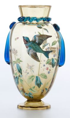 A CZECHOSLOVAKIAN GLASS VASE . Attributed to Ludwig Moser, Circa 1900