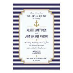 #weddinginvitation #weddinginvitations (Stylish Nautical Rehearsal Dinner Invitation) #Anchor #Blue #BlueLines #Chic #Classic #Clean #Collections #Crisp #Design #Elegant #FauxGold #Fresh #GoldColor #Hip #Married #Modern #Nautical #New #Pretty #RehearsalDinner #Striped #Stripes #Stylish #Trend #Trendy #Vertical #Wedding #Weddings #White is available on Custom Unique Wedding Invitations  store  http://ift.tt/2cEA1Mo